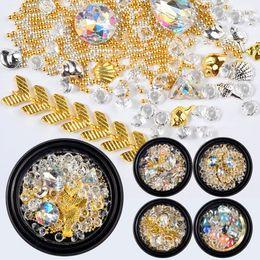 $enCountryForm.capitalKeyWord NZ - 1 Box Mixed Crystal Rhinestones Nail Art Strass Caviar Studs Glitter Charm Glass 3D Design Jewelry Gem Manicure Decor #281966