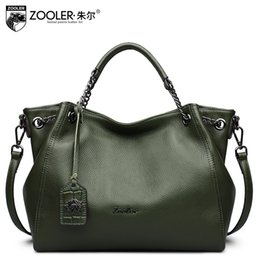 ZOOLER Genuine Leather Shoulder Bags Handbags Women Famous Brands Female  Dumplings Crossbody Bag Ladies Hobos Messenger Bag Tote 6fb22bf56eacb