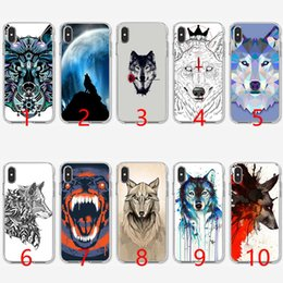 Snow White Phone NZ - The Snow Wolf Soft Silicone TPU Phone Case for iPhone 5 5S SE 6 6S 7 8 Plus X XR XS Max Cover