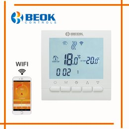 Programmable thermostat heating online shopping - BEOK Programmable Gas Boiler Heating Temperature Regulator APP Controls WIFI Thermostat Hand Control Thermostat with Kid Lock