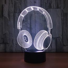 $enCountryForm.capitalKeyWord Canada - Earphone 3D LED Optical Illusion Lamp Night Light DC 5V USB Charging 5th Battery Wholesale Dropship Free Shipping