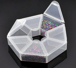 bead organizers storage containers NZ - 2PCs Small Plastic Storage Box W 7 Compartments Beads Jewelry Storage Box Makeup Organizer Home Saundries Containers 9x9x2cm