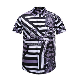 796a2eb46cd Brand New Summer Mens Dress Shirts Retro Colour floral printing casual  short sleeve cotton shirts for men Social Shirt men s medusa