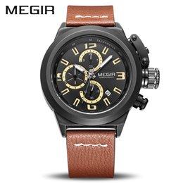 Men Digital Wrist Watches NZ - MEGIR Quartz Men Watch Luminous Relogio Masculino Multifunction Wrist Watches Reloj Hombre 2029