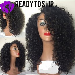 $enCountryForm.capitalKeyWord NZ - Stock side part Afro Kinky Curly Wig Heat Resistant Synthetic Lace Front Wig With Natural Hairline Glueless Black Wigs For Black Women