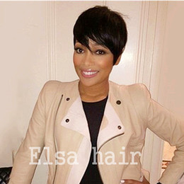 celebrity hairs NZ - Black women for wigs Pixie cut short human hair wigs for black women bob full lace front wigs with baby hair for Africans American Celebrity
