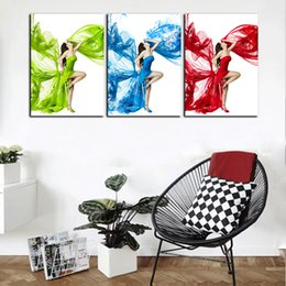 $enCountryForm.capitalKeyWord NZ - HD Printed 3 Panel Modern Sexy Beauty Movie Poster Oil Painting On Canvas Abstract Home Wall Art Picture For Living Room Decor