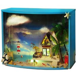 Iie Create Diy Hut Fan Tower Glass Ball Mini Hut Assembled House Toy Hand Send Childrens Gift Miniature Houses Cute Room Latest Technology Toys & Hobbies Doll Houses