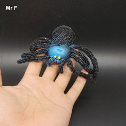 kids pretend Australia - 16cm Imitate Animal Black Soft Spider Toy Tricky Scary Halloween Decoration Party Prop Pretend Toy Educational Prop Teaching Adi