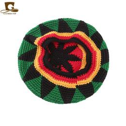 c0897bafcaf New Casual Men Women Rasta Hat Fancy Dress Party Hippie Handmade Beret Wig  Jamaican Bob Marley Knit Reggae Hat