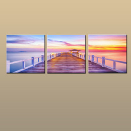 $enCountryForm.capitalKeyWord Australia - Framed Unframed Hot Modern Contemporary Canvas Wall Art Print Painting Seascape Dock Picture 3 piece Living Room Home Decor abc231