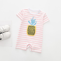 375a786a4ab Baby Rompers Newborn Infant Baby Boys Girls Pineapple Short Sleeve One  Piece Cotton fruit Girl Romper infant boy clothes