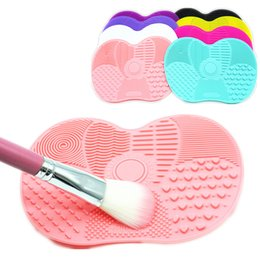Discount makeup brush cleaner wholesale Newest Silicone Brush Cleaner Cosmetic Make Up Washing Brush Gel Cleaning Mat Foundation Makeup Brush Cleaner Pad Scrubb
