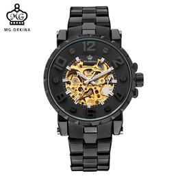 $enCountryForm.capitalKeyWord UK - MG. ORKINA Men Wristwatch Golden Skeleton Clock Mechanical Male Wrist Watch Black Relogio Masculino Automatic Zegarek Meski D18100706