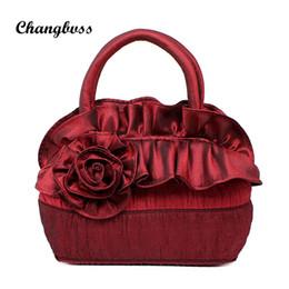 Multi Color Ladies Handbags Australia - Wire Red Ladies Handbag Flower Ruffles Vintage Women Messenger Bags Mini Soft Crossbody Bags String Shoulder bolso mujer