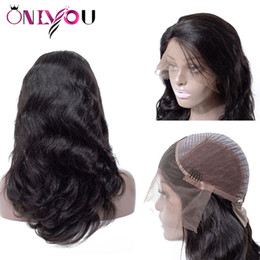 Discount black girl lace front wigs - Brazilian Body Deep Wave Full Lace Human Hair Wigs Cheap Peruvian Lace Front Wigs For Black Women Girl Raw Indian Remy V