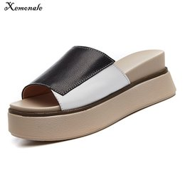 $enCountryForm.capitalKeyWord Canada - Xemonale 2018 Summer Women Slippers Flip-flops Beach Shoes Ladies Middle Heel Shoes Women Platform Slippers White Slides Sandals