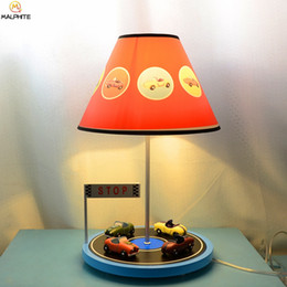 Red Bedside Tables Australia - Modern Wooden Automotive Circuit Table Lamp for Kids Bedroom Bedside Living room Luminaire Lamp Table Home Decor