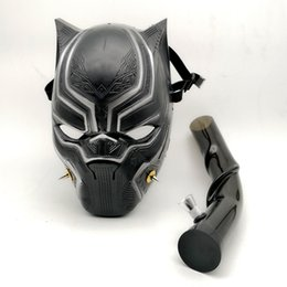 Black gas masks online shopping - New Black Panther Creative Silicone Gas Mask Oil Rig with Acrylic Art Bongs cigarette Tobacco Smoking Pipe Hookahs Tools