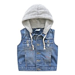 China Baby Hat Cowboy Vest 2018 Autumn New Boy Suit Children's Single Breasted Horse CLIP Leisure clothes cheap jacket hat baby suppliers