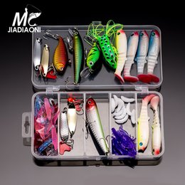 ice jig lures 2019 - Jiadiaoni Ice Fishing Lure Set Minnow Popper Wobbler Spoon Metal Lure Soft Bait Carp Fishing Lure Fly Fishing Tackle che