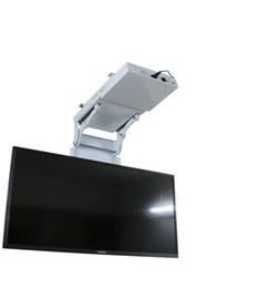 2018 motorized electric hidden flip down false ceiling Led lcd tv lift mount hanger holder remote control function 110v-250v on Sale