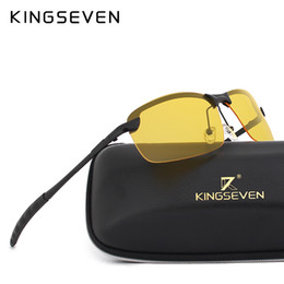 Safety Vision Australia - KINGSEVEN Polarized Sunglasses Men Women Night Vision Goggles Driving Glasses Anti Glare Safety Sunglass With original box
