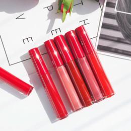 Luxury Lipstick Brands Canada - A+++ Quality! Italy Luxury Brand Maquillage GIORGIO Lip Gloss Maestro Intense Velvet Lipgloss 8 colour Liquid Lipstick