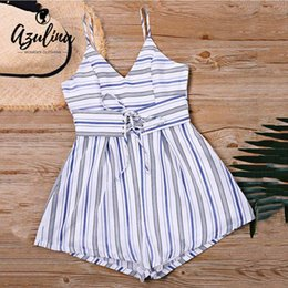 Free Ostrich Wrap Casual Printed Romper Summer Bow Sleeveless V Neck Playsuit Women Rompers Strap Beach Short Jumpsuit N30 Soft And Light Women's Clothing