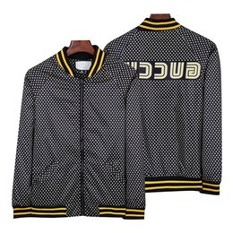 Fashion Jacket Casual Windbreaker Long Sleeve Cotton Blend Size M-3XL One Coler Mens Jackets Zipper Pocket Animal Flower Letter Pattern on Sale