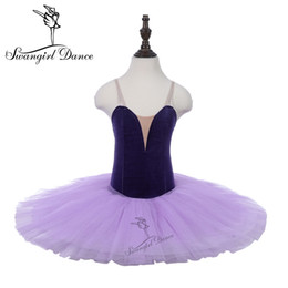 fb60c09de1edd Rehearsal Ballet Tutu Purple Girls Child Practicing Dance Costumes Leotards  Tutu Performance Stage Ballerina Dress PPL18044B