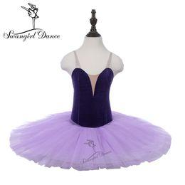 a64a523d94af Rehearsal Ballet Tutu Purple Girls Child Practicing Dance Costumes Leotards  Tutu Performance Stage Ballerina Dress PPL18044B
