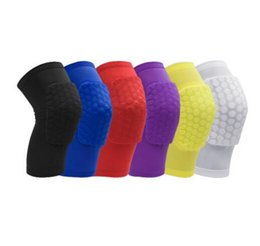 Girls Shorts Braces NZ - Honeycomb Short Knee Pads Sleeve for Basketball Volleyball Running Football Relieves Pain Protective Pad Knee Leg Brace Free Shipping