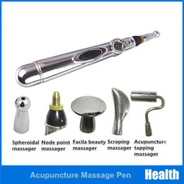 $enCountryForm.capitalKeyWord NZ - 5 Tips Electronic Acupuncture Pen Handheld Heal Massage Pen Body Head Leg Massage Tool Pain Relief Magnet Therapy Meridian Energy Pen