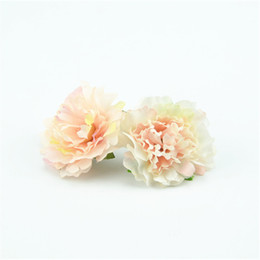 China 100pcs 4.5cm Cheap Artificial Silk Flowers European Fall Vivid Peony Fake Leaf Wedding Home Party Decoration Peony Chrismas Gift cheap silk leafs wholesale suppliers