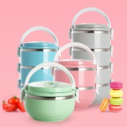 Green Box Containers NZ - Japanese Bento Box Lunchbox Thermal Stainless Steel Lunch Boxing Food Fruit Container Storage boxes to store for Kids Picnic