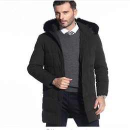 Discount tops 7xl - Duck Down Coat Men Thick Warm Winter Jackets With Removable Real Fox Fur Hooded Down Jacket Top Quality Black Overcoat 7