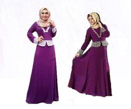 Chinese  New Muslim Dress Long Kaftan Dresses Dubai Fashion Loose Abaya Turkish Muslim Clothing Women Islamic Dress 28# manufacturers