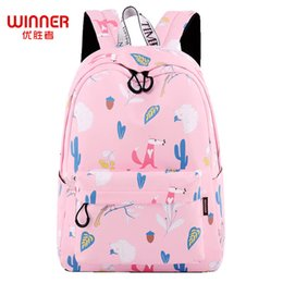 waterproof school book bag Canada - wholesale Cute Fox Backpack Waterproof Middle School Girls Backpack Pink High Quality Laptop Books Bag Mochila 2018