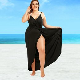 1effdb67c6 2018 New Plus Size Beach Cover Up Wrap Dress Bikini Swimsuit Bathing Suit  Cover Ups Robe De Plage Beach Wear Large Size Swimwear