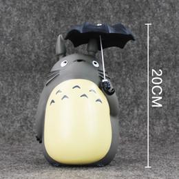 Miyazaki hayao figure online shopping - 20cm Hayao Miyazaki My Neighbor Totoro With Umbrella Pvc Action Figure Collectible Model Toy Piggy Bank