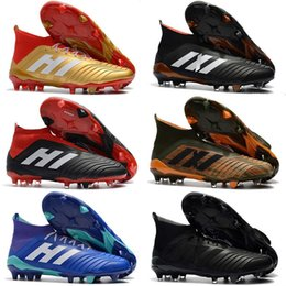 3af40c3f1f02 2018 Hot Predator 18.1 Mens FG Football Boots Cheap Soccer Laceless Cleats  Socks Outdoor sneakers with Shoelace size 39-46