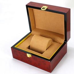 $enCountryForm.capitalKeyWord UK - Top Wood Watch Storage Box Red Color High Density Fiberboard Box For Single Watch Fashion Jewellry Gift Follow Case B022
