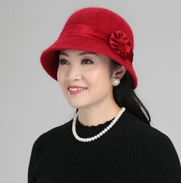 beret knitted NZ - Lady French Beret 100% Wool Beret Floral Dress Beanie Winte Korean plate Cap Knitted hat 5COLORS