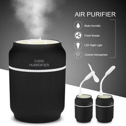 200 ml USB Auto Mini humidificadores del coche purificador de aire latas del ambientador con lámpara LED Aromatherapy difusor Mist fabricante Fogger para el hogar