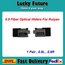 Hot Melt Fiber NZ - Ruiyan RY-F600P Optical Fusion Splicing Machine Fiber Holders 1 Pair Of Hot-Melt 0.9 Fiber Holder