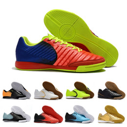 China 2018 New Tiempo Ligera IV IC Indoor mens soccer shoes Flat football Boots Trainer weaving soccer cleats Sneakers Size 39-45 cheap sneakers indoor football suppliers