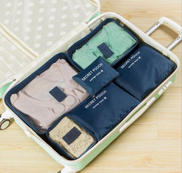 Types Set Clothes Australia - Korean Travel Storage Bag 6 Sets Of Waterproof Clothes Finishing Bags Travel Storage Bag Storage Six Sets Household Products Without Trunk