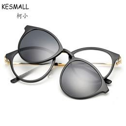 451b201d0be wholesale Driving Sunglasses Women Man Vintage TR90 Frame Eyewear Polarized  Magnet Clip On Sun Glasses UV400 Lentes De Sol YL382