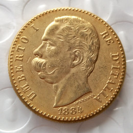 factory arts Australia - Italy 1884 Umberto 50 Lire Gold Coin Copy Coins home decoration accessories cheap factory price